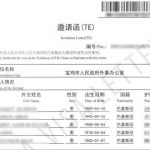 "Get china visa"" Invitation Letter of Duly Authorized Unit"""